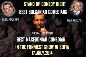 Standup comedy in Sofia Kirkov Nojarov Todoroski